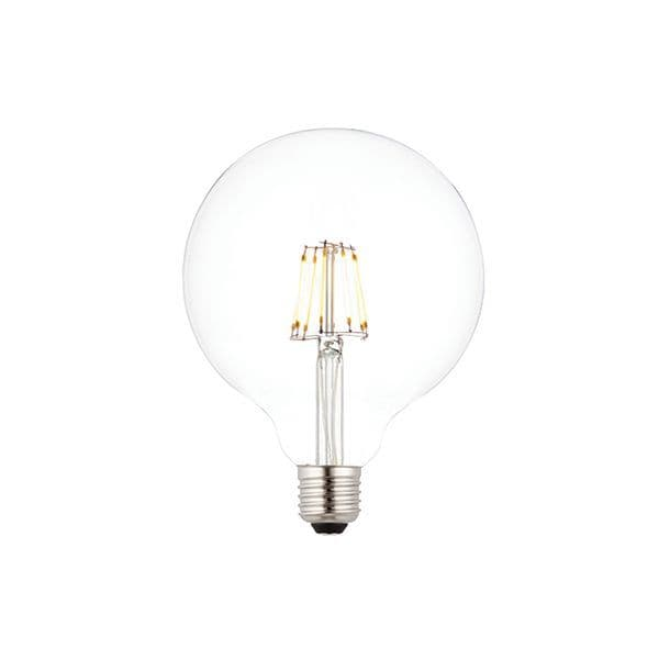 Saxby E27 LED Filament Globe Dimmable 125mm 7w Warm White 76802 By Massive Lighting