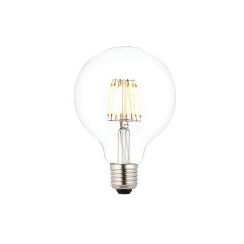 Saxby E27 LED Filament Globe Dimmable 95mm 7w Warm White 76801 By Massive Lighting