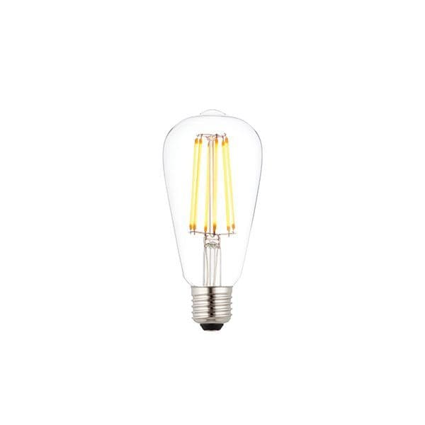 Saxby E27 LED Filament Pear Dimmable 6w Warm White 76803 By Massive Lighting