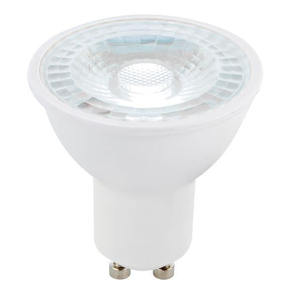 Saxby GU10 LED SMD Beam Angle 38 Degrees Dimmable 6w Daylight White 78864 By Massive Lighting