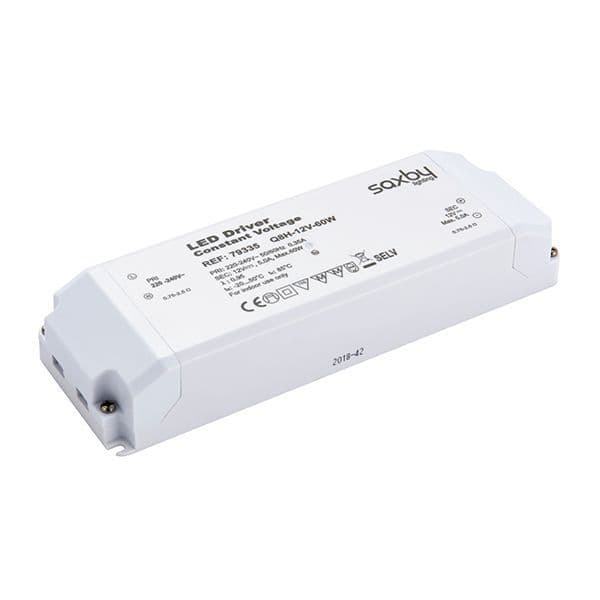 Saxby LED Driver Constant Voltage 12v 60w 79335 By Massive Lighting