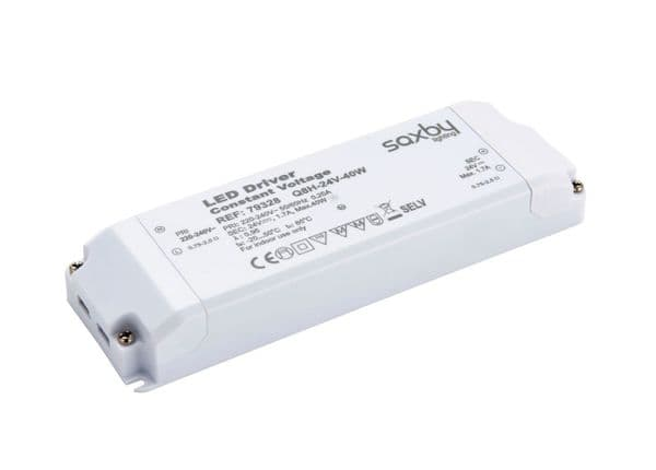 saxby LED Driver Constant Voltage 24v 40w 79328 By Massive Lighting