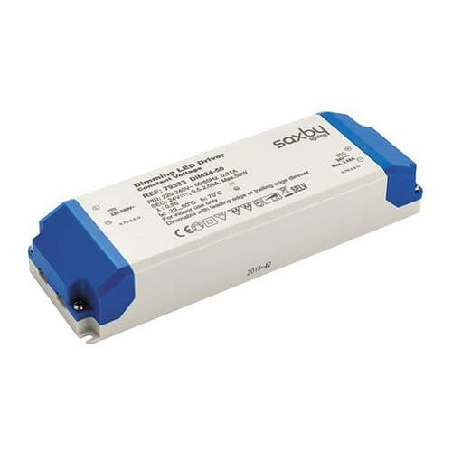 Saxby LED Driver Constant Voltage Dimmable 24v 50w 79333 By Massive Lighting