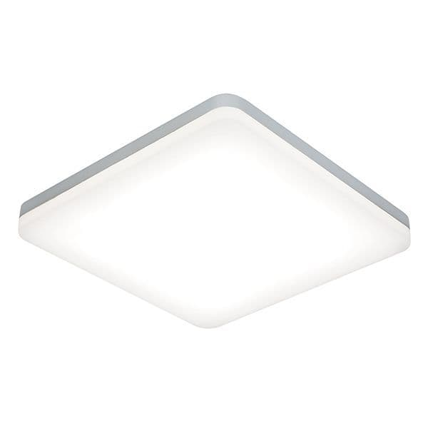 Saxby Noble 300mm Square Flush IP44 22w Cool White 54487 By Masive Lighting