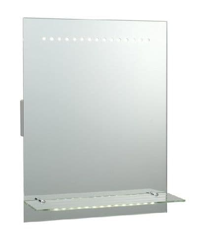 Saxby Omega Mirror IP44 1.5w SW Daylight White 39237 By Massive Lighting