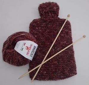 Hot water bottle jumper knitting kit