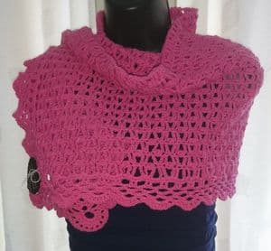 Pure Cotton shawl crochet kit