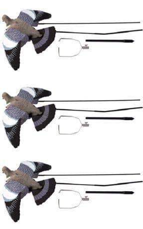 3 x Ultimate Flying Pigeon Decoy + Bouncer Pigeon Shooting Decoying Terminator