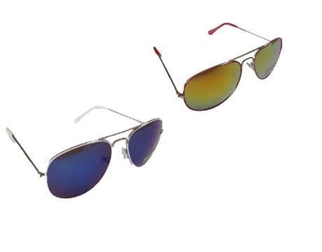 Aviator UV400 Eyelevel Commodore Mirror Designer Sunglasses Sport Blue Orange
