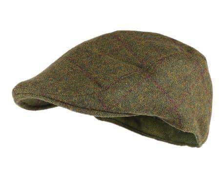 Blenheim Waterproof TWEED Flat Cap Traditional Country Hat Breathable New Wool