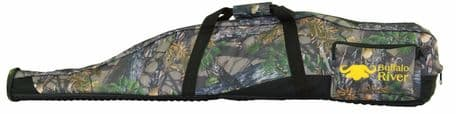 """Buffalo River Camo CarryPRO Competitor Gun Bag 44"""" Scoped Rifle Slip Rubber Base"""