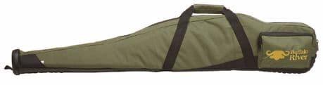 "Buffalo River Green CarryPRO Competitor Gun Bag 44"" Scoped Rifle Slip RubberBase"