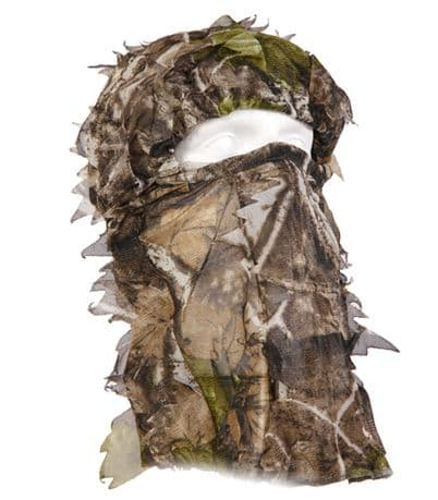 Camo Full Head Net 3D Leafy Sneaky Mask Facemask Pigeon Shooting Decoying New