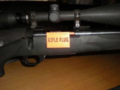 FULL BORE RIFLE SAF-T-PLUG ,BREECH FLAG,TARGET SHOOTING