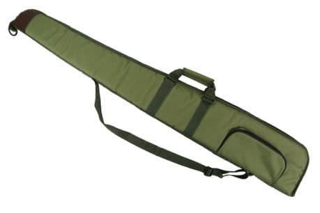 "GREEN Well Padded Gun Slip 52"" Shotgun Bag Clay Pigeon Shooting Hunting New"