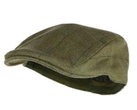 Kensington Waterproof TWEED Flat Cap Traditional Country Hat Breathable New Wool