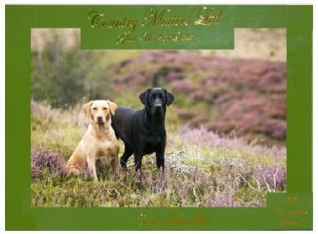 Labs on Moor Quality Glass Work Top Saver By Country Matters Labrador Design