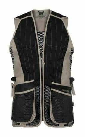 Percussion Beige Black Clay Pigeon Shooting Skeet Trap Vest Ambidextrous New