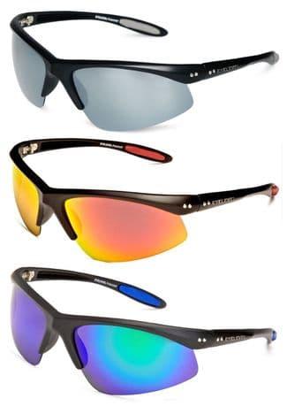 Sunglasses UV400 POLARIZED Crossfire Mens Unisex Mirrored Biker Sports Eyelevel