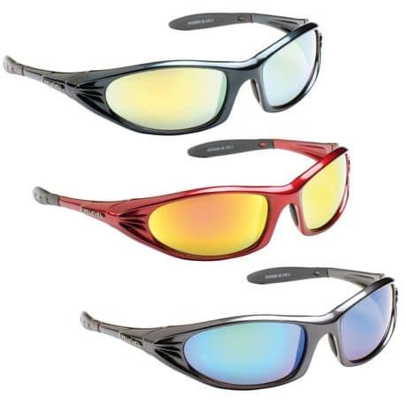 UV400 Eyelevel POLARIZED Jackson Sport Wrap Around Mirror Sunglasses Red Blue