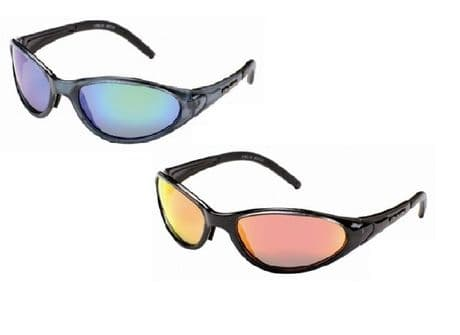 UV400 FISHING POLARIZED Action Sport Wrap Around Mirror Sunglasses Blue Red New