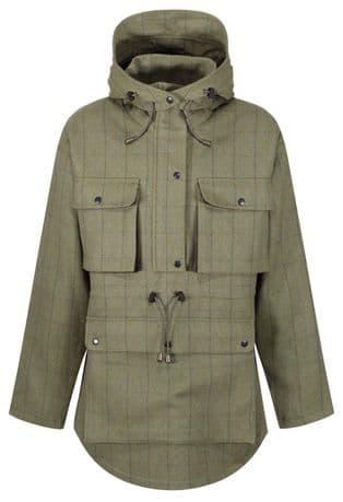 Waterproof Kensington Green Tweed Stalking Smock Jacket Shooting Hunting Stealth