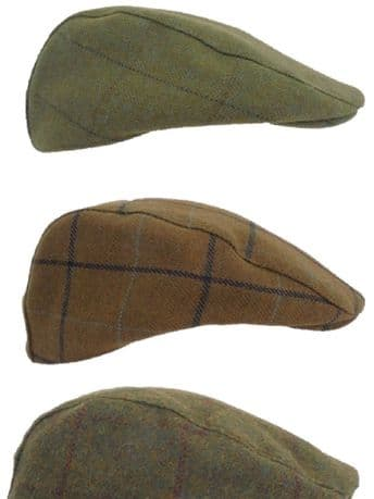 Waterproof TWEED Flat Cap Traditional Country Hat Breathable New Wool Warm