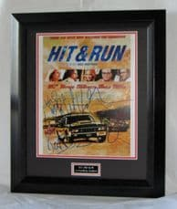 "A705HR Tom Arnold, David Koechner, Joy Bryant, Michael Rosenbaum, Kal Bennett and Dax Shepard - ""HIT AND RUN"" MULTI SIGNED"