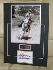 CLAYTON MOORE SIGNED THE LONE RANGER SIGNED  MATTED CARD