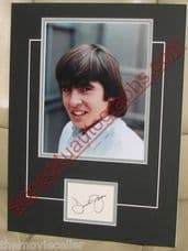 DAVY JONES  (1945-2012) SIGNED THE MONKEES  MATTED  CARD