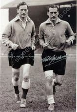 Nat Lofthouse and Sir Tom Finney Signed 12 x 8