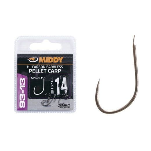 Middy 93-13 Barbless Spade End Hooks