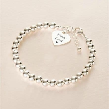 Beaded Memorial Bracelet, Any Engraving