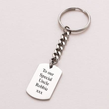 Custom Engraved Dog Tag Key Ring