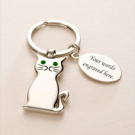 Engravable Cat Keyring