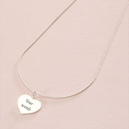 Engraved Heart Necklace (ch1)