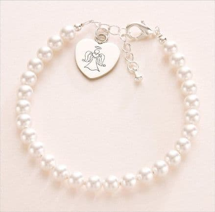 Engraved, Personalised Angel Bracelet