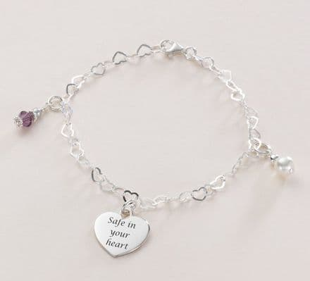 Fantasia Birthstone Bracelet with Engraving