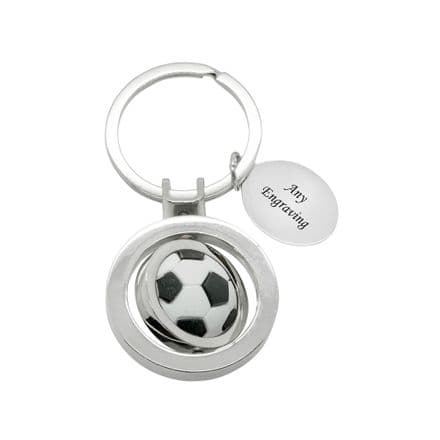Football Keyring with Engraving