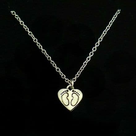 Footprints Necklace in Gift Box