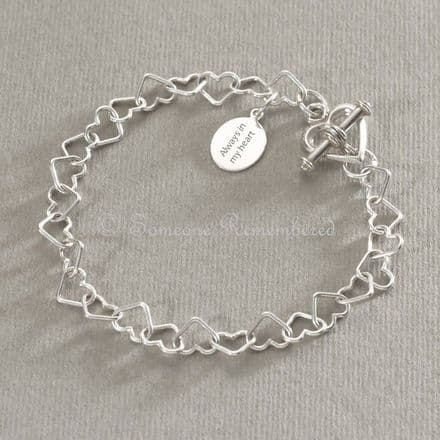 Memorial Charm Bracelet, Eternal Hearts