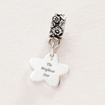Memorial Charm, The Brightest Star, Sterling Silver