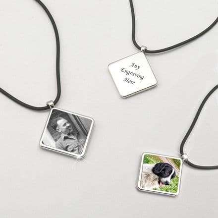 Memorial Necklace with Photo & Engraving
