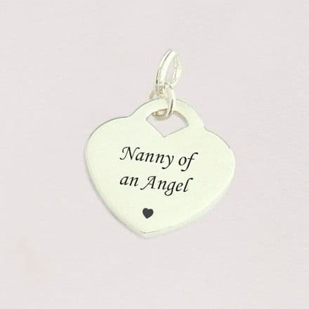 Nanny of an Angel Charm, Sterling Silver Heart