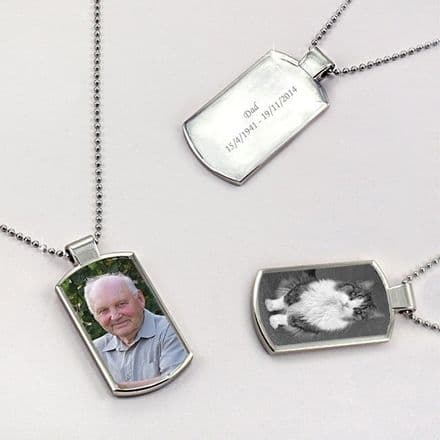 Permanent Image Dogtag Necklace