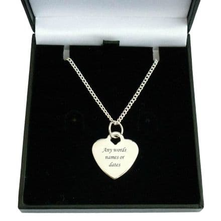 Personalised Engraved Memorial Necklace