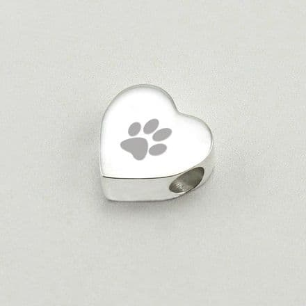 Personalised Paw Charm Bead