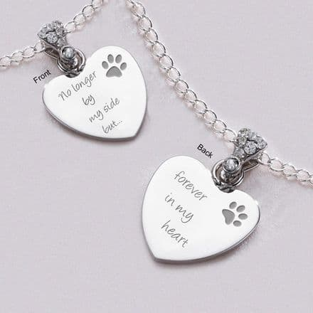 Pet Loss Necklace with Crystal Bail