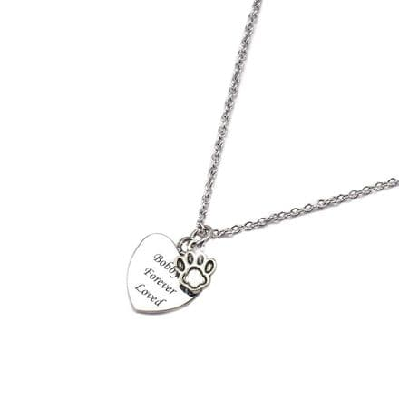 Pet Loss Sympathy Gift, Engraved Necklace