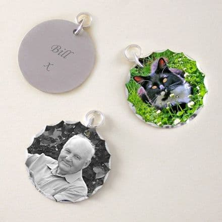 Photo Charm with Engraving - Round